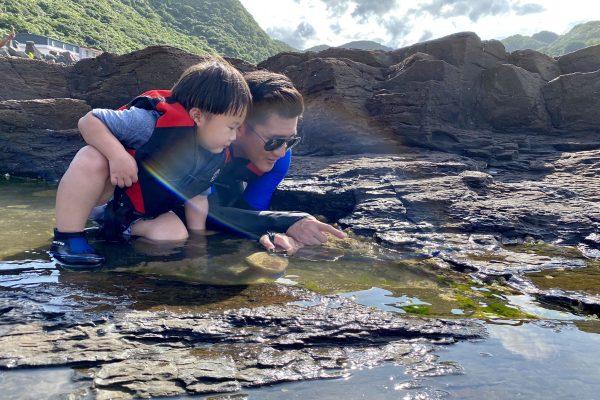 東北角玩水景點+1!好多螃蟹寄居蟹!讓孩子驚呼連連的龍洞漁港潮間帶!